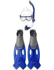 Speedo 8-016585052 Set Gafas de Bucear y Esnórquel, Unisex adulto, Gris (Grey / Blue), Única