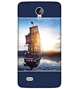 For Vivo Y21L vintage ship, ship, ship in water, mountain, blue background Designer Printed High Quality Smooth Matte Protective Mobile Case Back Pouch Cover by APEX