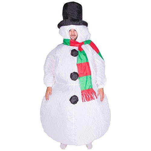 Aufblasbares Schneemann-Weihnachtskostüm für Erwachsene