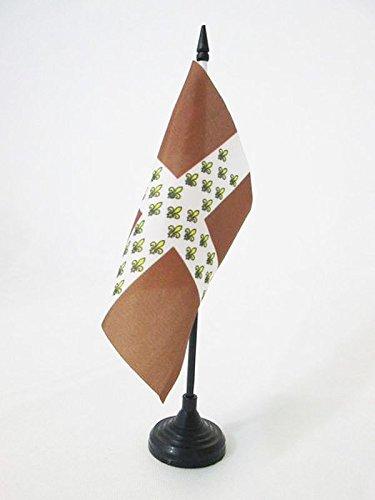 AZ FLAG TISCHFLAGGE KÖNIGREICH Frankreich Regiment D\'Armagnac 1776-1791 15x15cm - FRANZÖSISCHE Infanterie TISCHFAHNE 15 x 15 cm - flaggen
