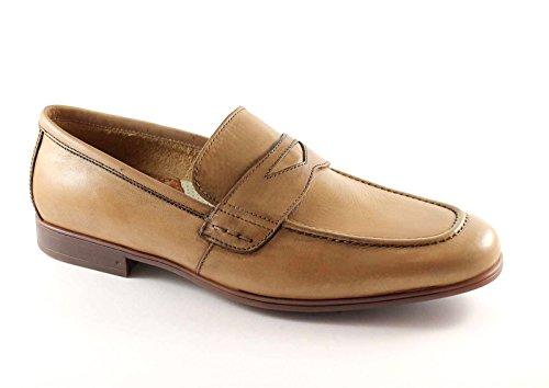 LION 20685 toile fainéants chaussures hommes en cuir antistatique Marron