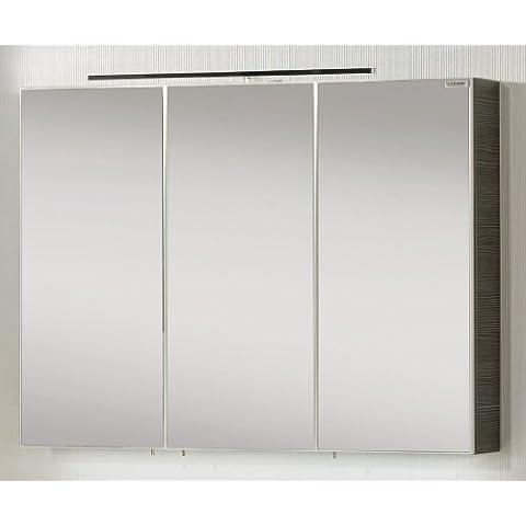 Specchio contenitore Vadea, colore (corpo): pino antracite, 90 x 68 cm