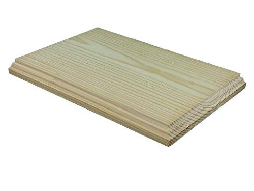 Peana madera rectangular. Diferentes medidas. En pino macizo, crudo. Se puede pintar. (31*21 cms)