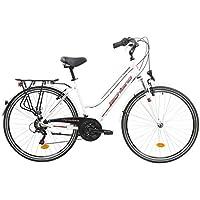 F.lli Schiano Voyager, Bici Trekking Donna, Bianco-Rosso, 28''