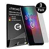 cTRON21 3X Schutzfolie kompatibel mit Samsung Galaxy S10E [Vollständige Abdeckung - Hüllen fre&lich] Bildschirm Folie TPU Bildschirmschutzfolie [Keine Bläschen]