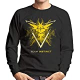 Cloud City 7 Pokemon Go Team Instinct Electric Logo Men's Sweatshirt