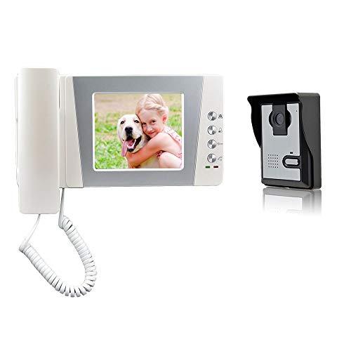 Nudito kit videocitofono cablata universale per casa. video citofono porta (1 x monitor lcd da 4,3 pollici, 1 x telecamera esterna a infrarossi impermeabile con visione notturna)