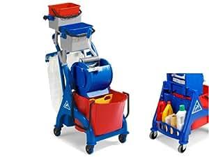 filmop reinigungswagen lieferumfang 1 reinigungswagen 2 eimer blau k che haushalt. Black Bedroom Furniture Sets. Home Design Ideas