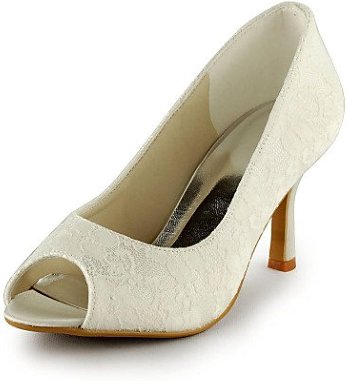 GGX/ Zapatos de boda-Tacones-Tacones / Punta Abierta-Boda / Vestido / Fiesta y Noche-Marfil / Blanco-Mujer , 3in...