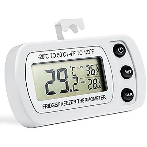 Función de temperatura digital Termómetro de habitación Frigorífico Monitor LCD, Hermanos del Norte Grande Fácil de read-display-max min