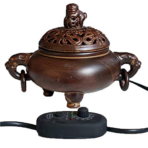 Sdk Aromatherapieofen - Timing Temperaturregelung Elektronische Keramik Aroma Ätherisches Öl Diffusor - Adlerholz Weihrauch Brenner für Home/Offic (Color : C) -