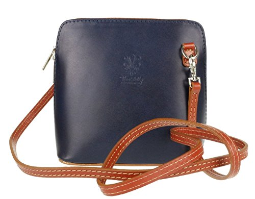 Craze London, Borsa a tracolla donna S Navy Light Tan