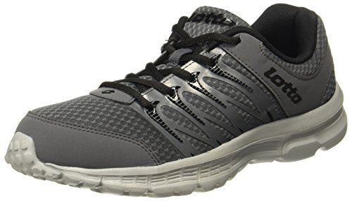 Lotto Men's Adriano Grey and Black Running Shoes