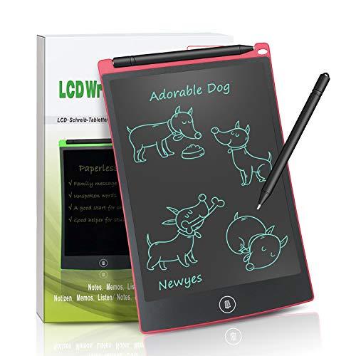 NEWYES NYWT850 - 8,5 pulgadas tableta gráfica portátil y pizarra blanca resistente, tableta de dibujo para el hogar, escuela, oficina, cuaderno de notas, 1 año de garantía (rojo)