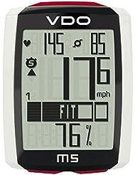 VDO wfbkcomp M5, inalámbrico, con cinturón, cadencia - y medidor de cadencia, negro/blanco/rojo