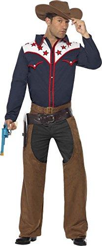 Wild West Cowboy-Kostüm für Herren (Kostüme Erwachsenen Western Gunfighter Cowboy)