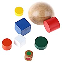 Garciakia Wooden Hemisphere Balance Game Building Blocks Kids Developmental Toy(Color:Multicolor)