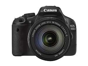 Canon EOS 550D SLR-Digitalkamera (18 Megapixel, LiveView) Kit inkl. EF-S 18-135mm 1:3,5-5,6 IS Objektiv (bildstabilisiert)
