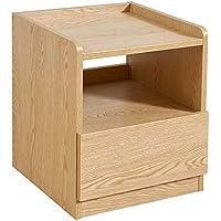 Preisvergleich für Small coffee table Hausmöbel Nachttisch Multifunktionsschließfach Sofa Beistelltisch, leicht zu reinigen mit Schubladen leicht zu reinigen, Holzfarbe 41,2 * 41,6 * 49,8 cm.