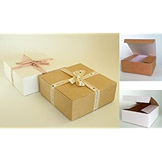 25 x Self Assembly Gift Boxes (#D) Perfect for Gift Presentation for toiletries, chocolates, cakes, biscuits, dried food, ceramics, sweets etc