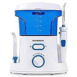 Hangsun Munddusche Elektrisch Dental HOC200 Professional Care Water Flosser Extrahart Familie Waterjet Mit 7 Wasserstrahl-Spitzen