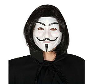 Guirca Careta-máscara Indignados plástico Color, Universal Adulto 2894
