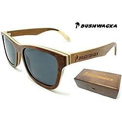Nuevo Bushwacka Surf-Master Polarizado hecho a mano de madera de bambú laminado gafas de sol