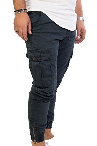 Pantalone invernale uomo cinque tasche con tasconi ai laterali slim antony morale 2 colori (blu, verdone) (46, blu)
