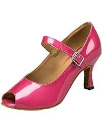 WYMNAME Mujeres Zapatos De Baile Latino,PU Tacones Zapatos De Baile Social Zapatos De Baile De Salón