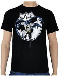 Lizenziertes Batman Full Moon T-Shirt schwarz Comic Batman Retro Print unisex