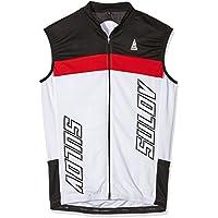 SULOV Bicicleta–Chaleco para Hombre, Primavera/Verano, Hombre, Color Rojo - Rojo, tamaño L