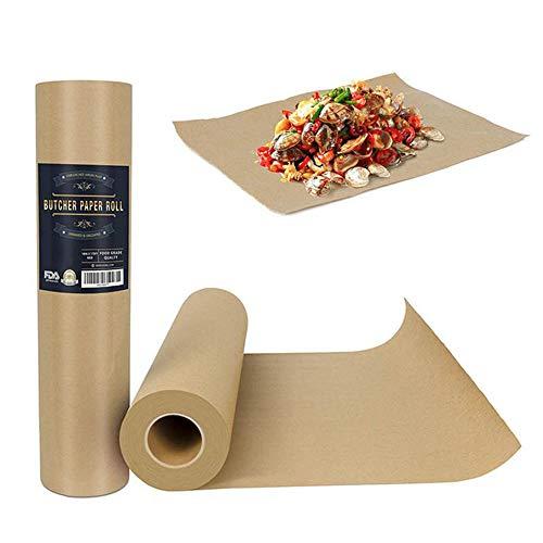 Kimmyer Craft Butcher-Papierrolle Brown Butcher Kraft - 17,4 x 175 ″ - unbeschichtete Butcher-Packpapierverpackung für den Verpackungsversand -