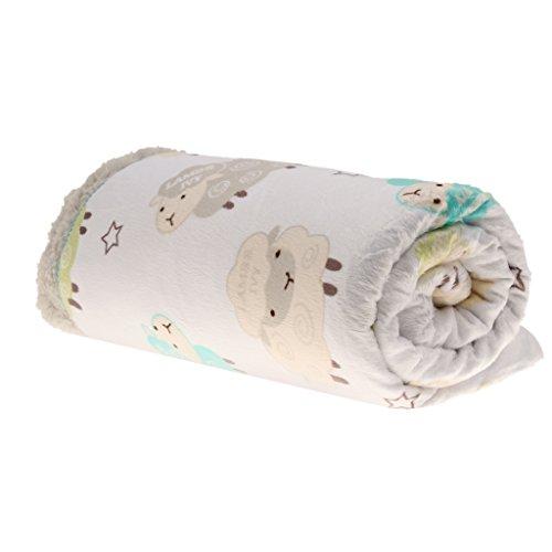 Preisvergleich Produktbild Generic Neugeborenes Baby Erstlingsdecke Berber Vliesdecke Bettwäsche Unisex - Schaf, one size