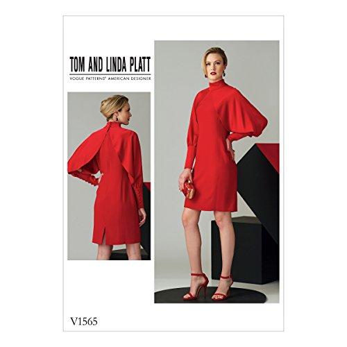 Vogue American Designer-muster (Vogue Patterns Schnittmuster Kleid, Tissue, Mehrfarbig, 20x 0,5x 25cm)
