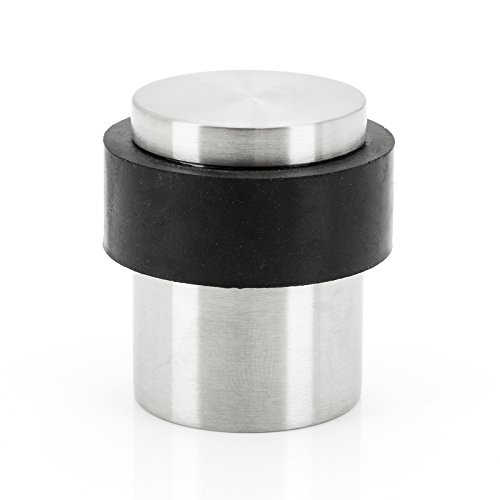 BASI® Türstopper Edelstahl 40 x 30 mm zur Bodenmontage mit Gummiring masssiv Anschlagpuffer Türpuffer