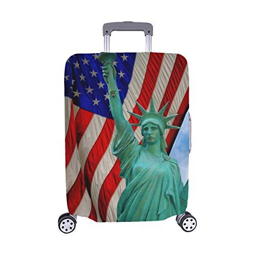 nsehen Statue Liberty Us Flag Spandex Staubschutz Trolley Protector case Reisegepäck Protector Kofferüberzug 28,5 X 20,5 Zoll ()