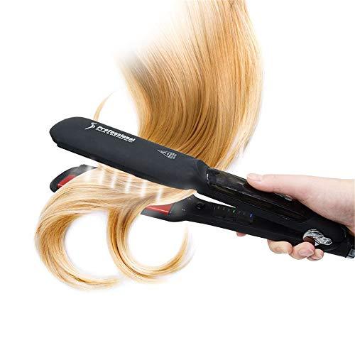 YJF-ZFQ Haarglätter Professionelle Salon Keramik Turmalin Dampfbügeleisen Haarglätter, Dual Voltage mit LED-Anzeige mit Einstellbarer Temperatur