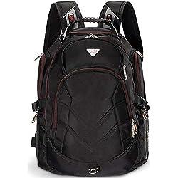 FreeBiz Sac à Dos Ordinateur Portable PC Backpack Laptop Multifonction 18,4 Pouces 50L Imperméable Unisexe Trekking Camping Randonnée Voyage Affaire Bureau Scolaire Noir