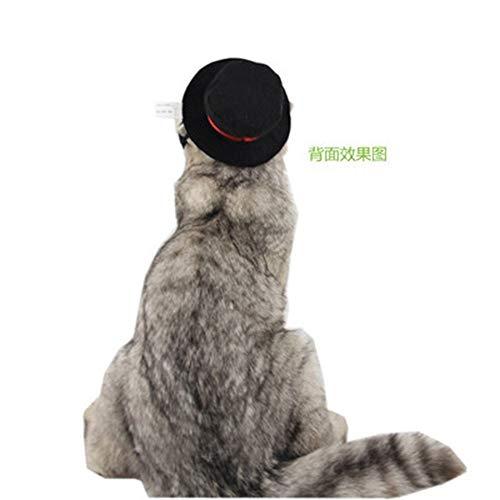Katze heimtierbedarf Hut Europa und Amerika Weihnachten Elemente Urlaub verkleiden SAMT Gentleman schwarzen Hut (Weihnachten Urlaub Elemente)