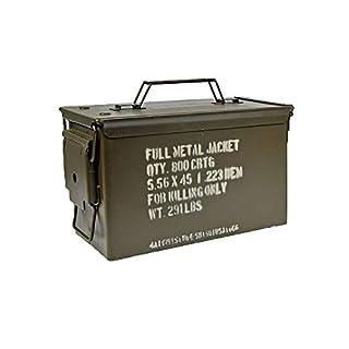 Armeeware Munitionskiste Cal. 5,56 x 45 Oliv neuwertig 30 x 14 x 19 Werkzeugkiste Munikiste