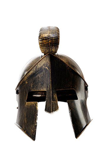 DRESS ME UP - Halloween Karneval Helm Kammbusch aufklappbares Visier Rüstung Gladiator Rom Sparta Spartanerhelm Antike Bronzefarben (Kostüme Perseus Halloween)