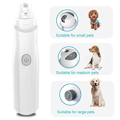 szyzl88 Elektrische Nagel Schleifer Sanfte Sicher Schmerzlos Pfoten Pflege, Trimmen, und Glätten für Hunde, Katzen, Low Noise mit DREI Anschlüsse - grau -