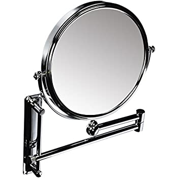 Danielle Creations Adjustable Wall Mounted Chrome Mirror X