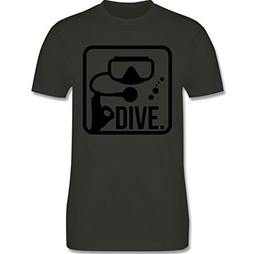 Wassersport - Dive. - Herren Premium T-Shirt Army Grün