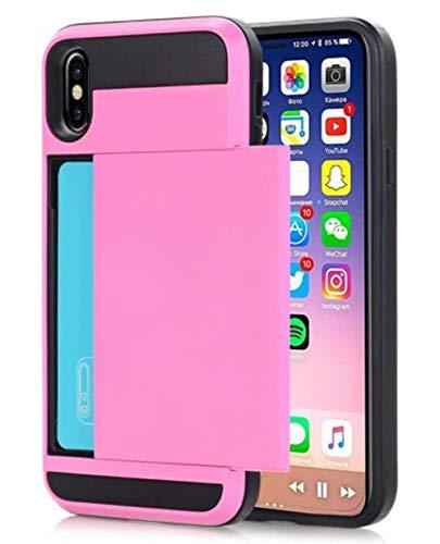 Lozeguyc Hybrid-Schutzhülle für iPhone X/XS, 14,8 cm (5,8 Zoll) iPhone X/XS 5.8 Inch[2018] rose Cord-strass-rose