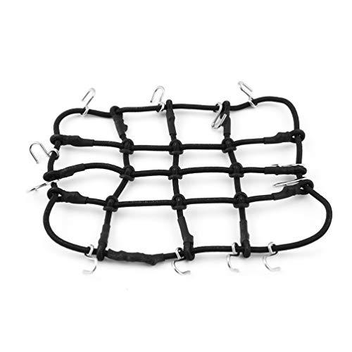 Rack-T-Power-Dach-Gepäckträger Net Mesh-Abdeckung mit Haken für 10.01 Crawler RC Car Raupen HIP CC01 AXIAL SCX10 RC4WD-Black-1 Größe -