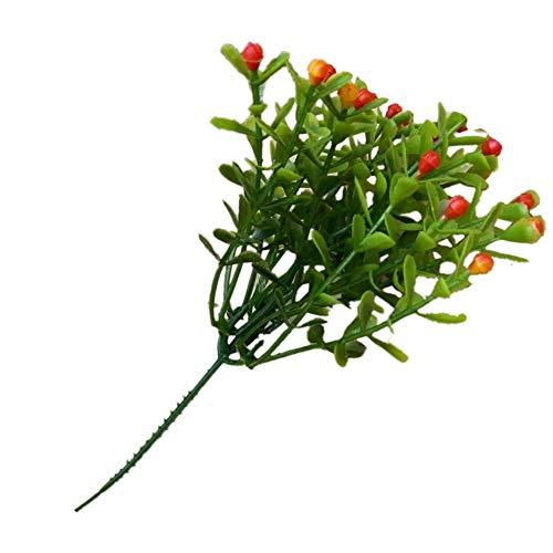 iSwell Blumenstrauß Künstlich Blume 5er Set Blumenstrauß Blätter Pflanze Dekoration für Heim, Garten und Hochzeit