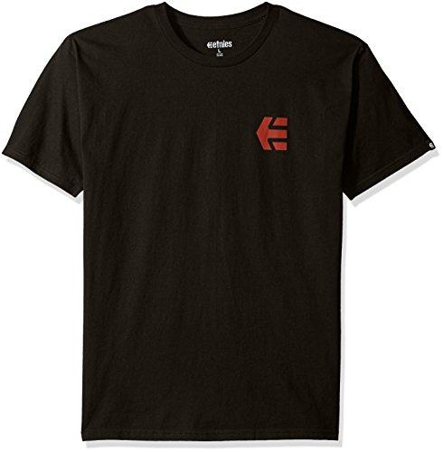 T-Shirt Etnies Mini Icon Nero-Rosso (S , Nero)
