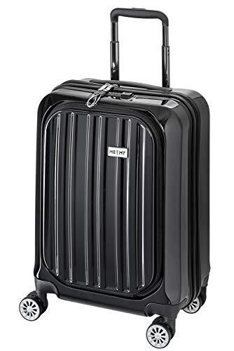 Me and My Valise Cabine avec Compartiment Ordinateur Portable Bagage à Main Trolley Rigide et Léger 4 roulettes Doubles pivotantes à 360º Serrure TSA Sulem Noir
