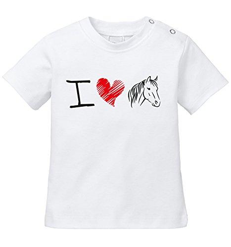 Ich liebe Pferde - Bio Baby T-Shirt (Bauernhof, Kleinkind-t-shirt)